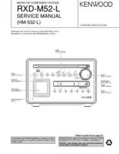 Buy KENWOOD RXD-M52L Service Schematics by download #131652