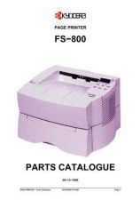 Buy KYOCERA FS-800 PARTS MANUAL by download #152164