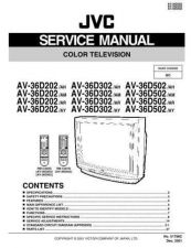 Buy JVC AV-36D302 AH Service Schematics by download #155369