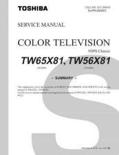Buy TOSHIBA TW65X81 Service Schematics by download #160513