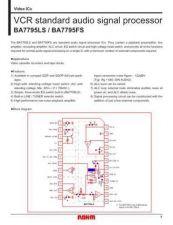 Buy INTEGRATED CIRCUIT DATA BA7795LSJ Manual by download Mauritron #186697