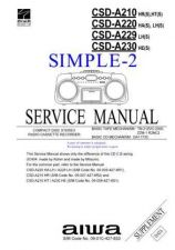 Buy AIWA CSD-EL200 TECHNICAL INFO by download #125231