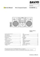 Buy SANYO DC-MM7000 Service Data by download #133509
