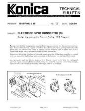 Buy Konica 33 ELECTRODE INPUT CONNECTO Service Schematics by download #136120