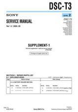 Buy SONY DSC-T3 Service Manual by download #166770