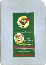 Buy FL Orlando Amusement Park Matchcover Seasons Greetings From Your Friends A~209
