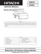 Buy Hitachi WNM80 SM 0531E Manual by download Mauritron #184665