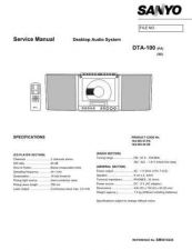 Buy SANYO SM5810228 Service Data by download #133640