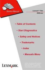 Buy LEXMARK T52X 4520 XXX Service Manual by download #137984