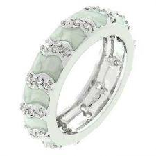 Buy Grey Eternity Enamel Ring (size: 09)
