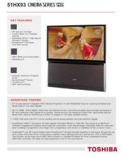 Buy TOSHIBA 51HX93 OPERATING GUIDE by download #129379