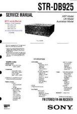 Buy MODEL SONY STRDB925 Service Information by download #124557