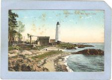 Buy CT New Haven Lighthouse Postcard Lighthouse Point lighthouse_box1, ct_box7~93