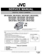 Buy JVC GR-D73E Service Schematics by download #155622