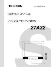 Buy TOSHIBA 27A32 SVCMAN Service Schematics by download #159780