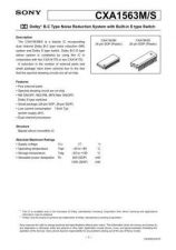 Buy MODEL CXA1563 Service Information by download #123993