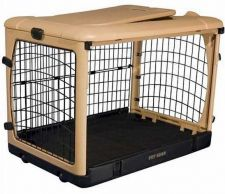 Buy Pet Gear Deluxe Steel Dog Crate With Pad & Carry Bag Large