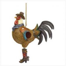 Buy Cowboy Rooster Birdhouse