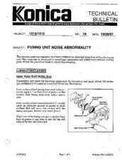 Buy Konica 18 FUSING UNIT NOISE ABNORM Service Schematics by download #136021