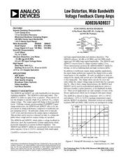 Buy INTEGRATED CIRCUIT DATA AD8036 7J Manual by download Mauritron #186361