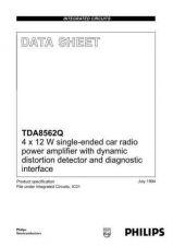 Buy MODEL TDA8562Q Service Information by download #124865