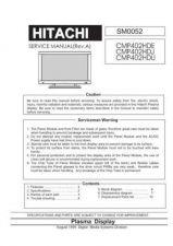 Buy Hitachi CMP402HDE SM 0052E Manual by download Mauritron #185980