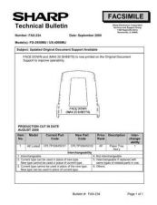 Buy Sharp FAX234A Technical Bulletin by download #138966