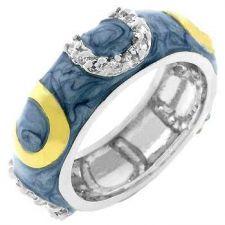 Buy Light Blue Horseshoe Enamel Ring (size: 09)