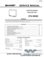 Buy Sharp 27US650 2 Manual.pdf_page_1 by download #178043
