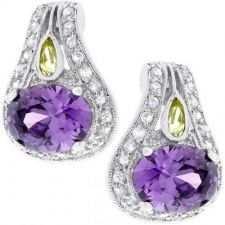 Buy Majestic Amethyst Cz Earrings