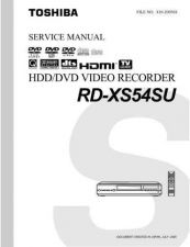 Buy TOSHIBA RDXS 54SU SVM Service Schematics by download #160340