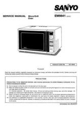 Buy Sanyo Service Manual For EM-SL30N Manual by download #175898