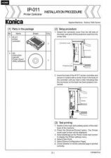 Buy Konica IP011 Service Schematics by download #135580