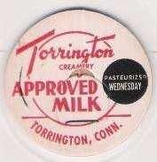 Buy CT Torrington Milk Bottle Cap Name/Subject: Torrington Creamery Approved M~277