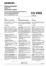 Buy MODEL SIEMENS CS9302 Service Information by download #124495
