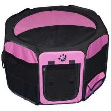 Buy Pet Gear Travel Lite Soft-Sided Pet Pen Removable Top Medium Pink