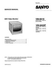 Buy Sanyo Service Manual For VM-6620P by download #176238