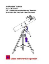 Buy Meade 4504 Instruction Manual by download Mauritron #194691