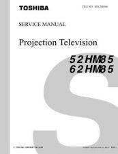 Buy TOSHIBA 52 62HM85 SVM Service Schematics by download #160042