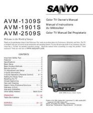 Buy Sanyo AVM-1309S, AVM-1901S, AVM-2509S(OM) Manual by download #172670