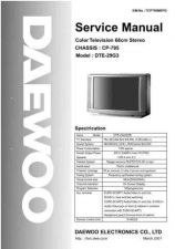 Buy DAEWOO SM DTE-29G3 (E) Service Data by download #150345