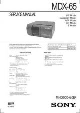 Buy SONY MDX65 11 Service Manual by download #167069