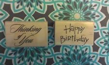 Buy Stampabilities wood mounted Think of You & Happy Birthday lot of 2