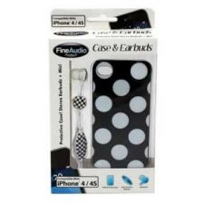 Buy White Dot Iphone Case With Earbuds