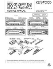 Buy KENWOOD KDC-315S V 415S 4015 4016 CG Technical Info by download #151863