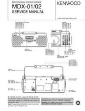 Buy KENWOOD MDX-01 02 Technical Info by download #152023