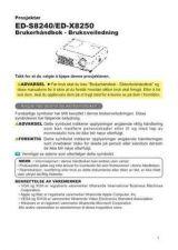 Buy Toshiba ED-X3450 EN Manual by download #172032