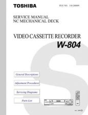 Buy TOSHIBA W804 Service Schematics by download #160586