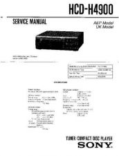 Buy SONY HCD-H4900 Service Manual by download #166967