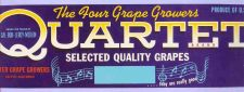 Buy CA Exeter Fruit Crate Label Quartet Brand Select Quality Grapes Exeter Gra~24